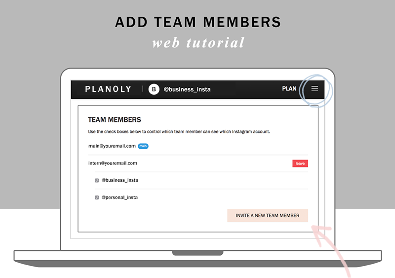 Planoly tutorial how to add team members