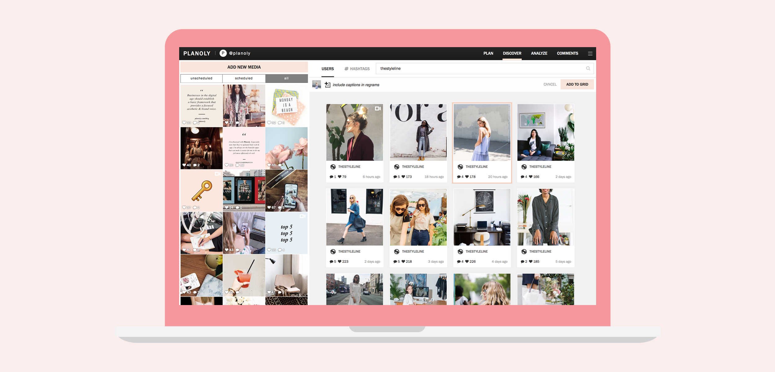 Discovering User Generated Content on Planoly