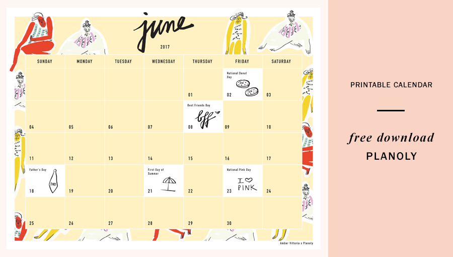 June 2017 Content Calendar Free Download by Planoly