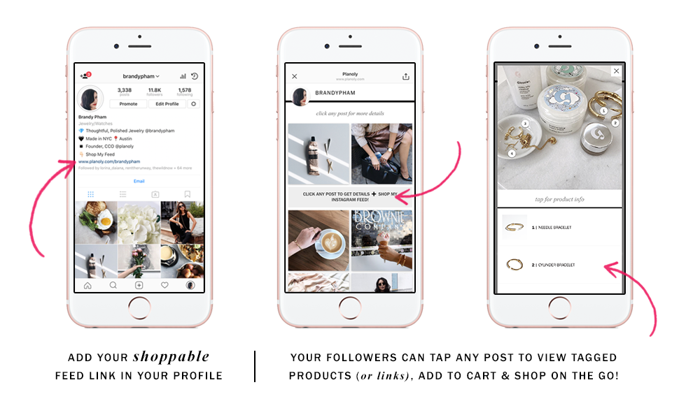 How to Create a Shoppable Instagram Feed with Planoly Link in Bio