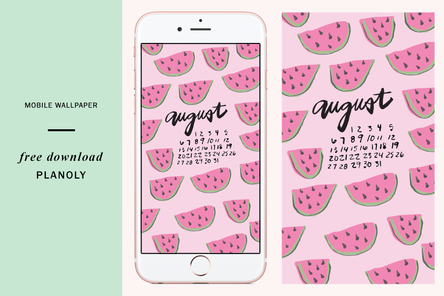 Free Downloadable August 2017 Content Calendar Mobile Wallpaper Planoly