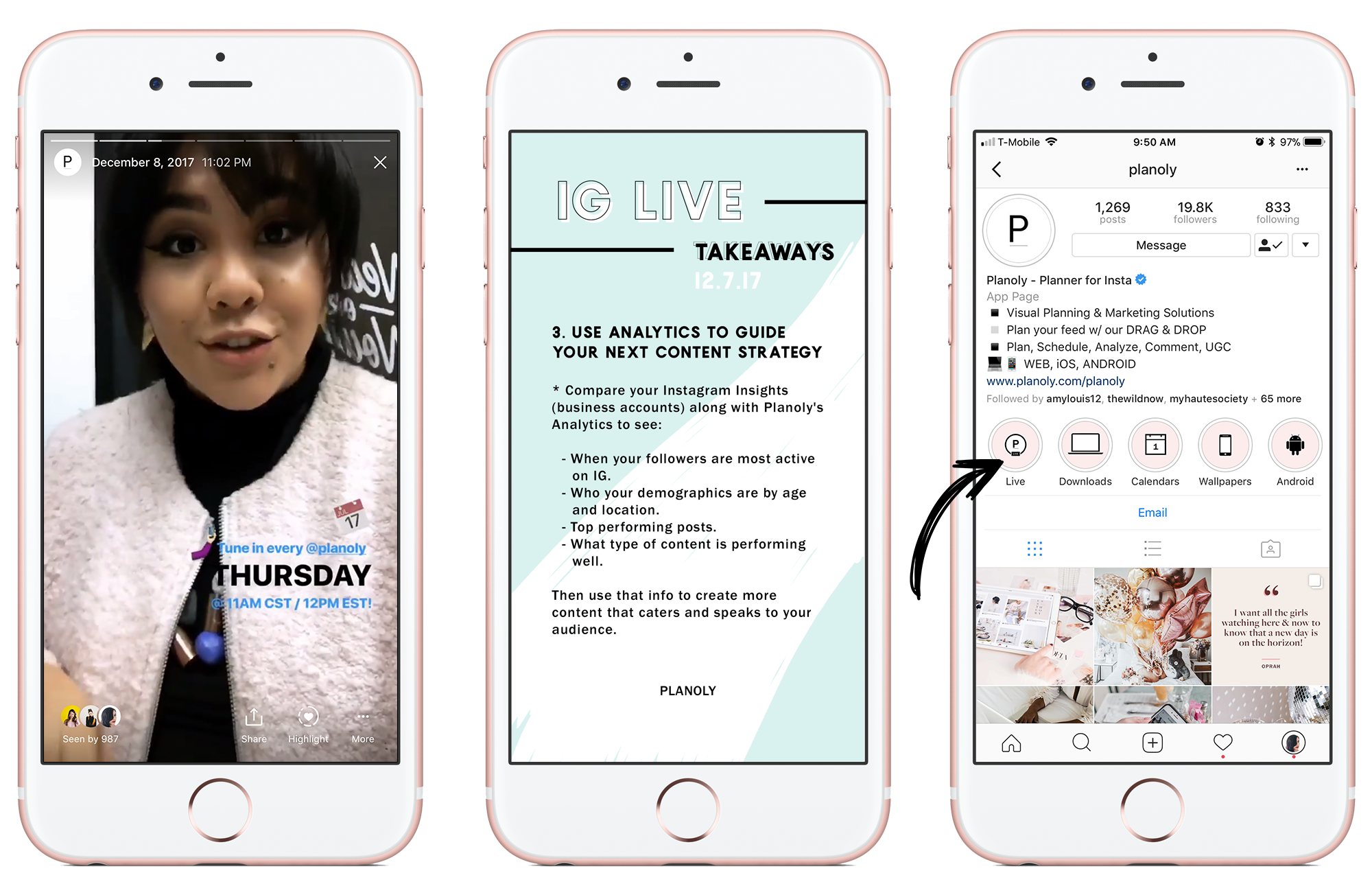 IG Stories Live - Planoly Blog - iPhone