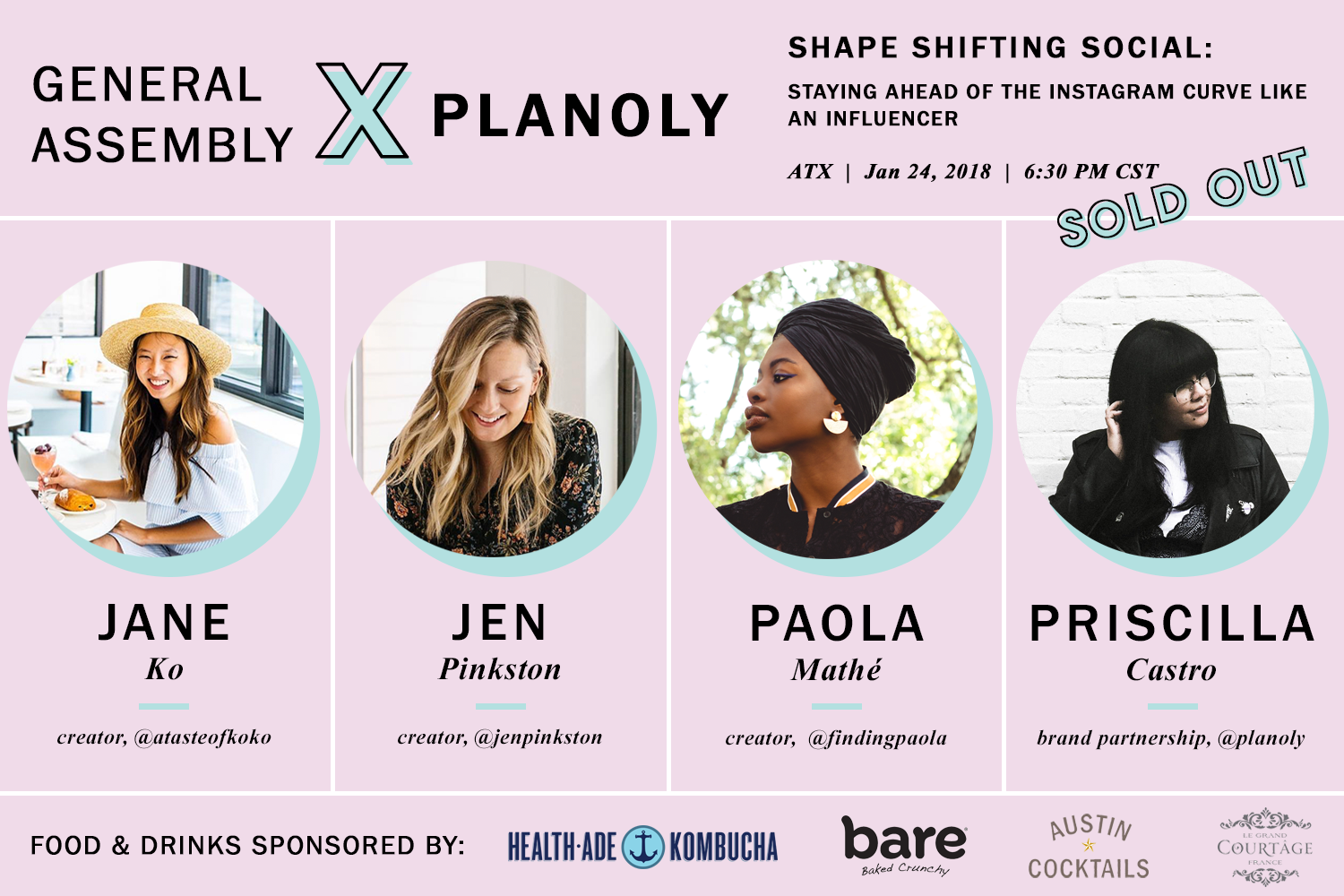 ATX Influencer Panel hosted by General Assembly - Planoly - January 2018