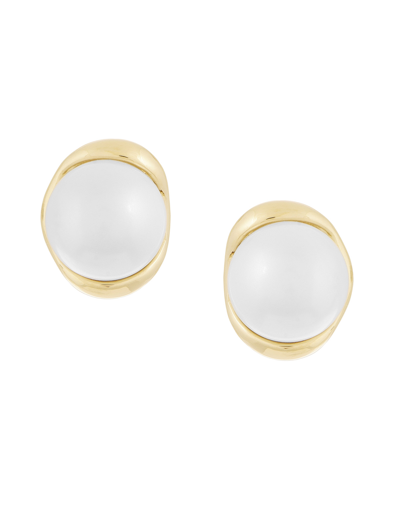 Laundry by Shelli Segal Set Pearl Stud Earrings