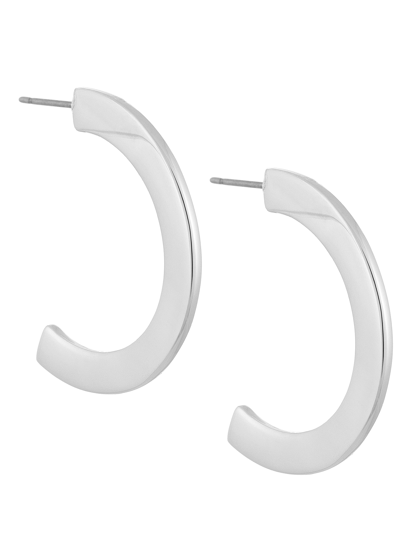 Laundry by Shelli Segal Modern C Hoop Earrings